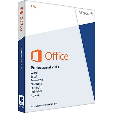 Microsoft Office Professional 2013 for Windows (1-User) [Product Key Card]