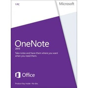 Microsoft OneNote 2013 for Windows (1-User) [Product Key Card]