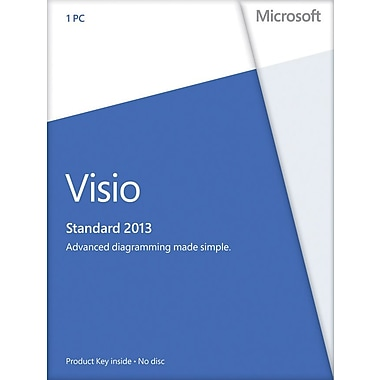 Microsoft Visio Standard 2013 for Windows (1-User) [Product Key Card]