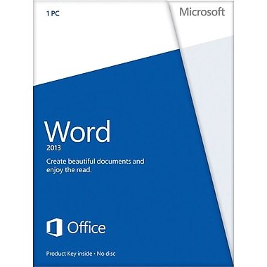 Microsoft Word 2013 for Windows (1-User) [Product Key Card]