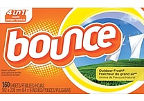 Bounce® Fabric Softener Sheets, Outdoor Fresh Scent, 160 Sheets/Box (PAG 80168)
