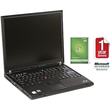 Refurbished Lenovo T61 14.1in., 100GB Hard Drive, 2GB Memory, Intel Core 2 Duo, Win 7 Home