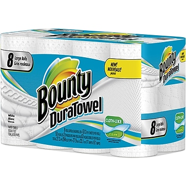 Bounty DuraTowel 8 Large Rolls/Case