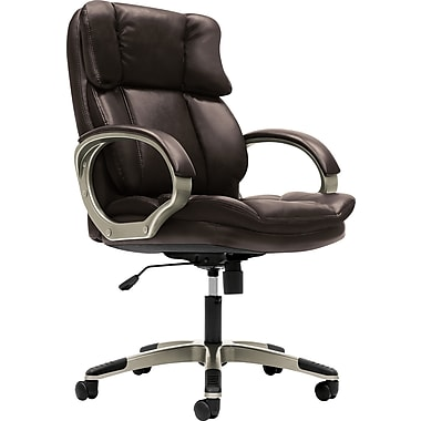 basyx by HON VL403 Managerial Mid-Back Chair with Loop Arms, Light Brown