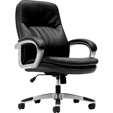basyx by HON VL404 Managerial Mid-Break Chair with Loop Arms, Black