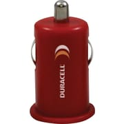 Duracell Mini USB Car Charger, Red