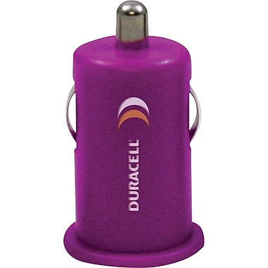 Duracell Mini USB Car Charger, Purple