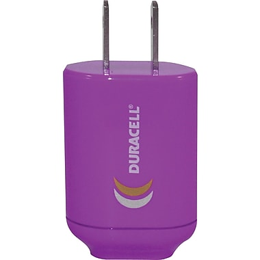 Duracell Mini USB AC Charger, Purple