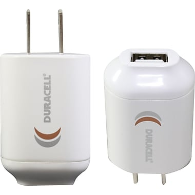Duracell Mini USB AC Charger, White