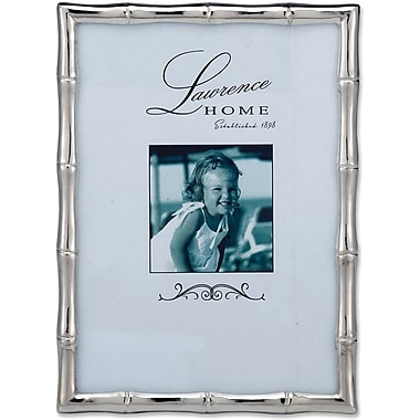 710157 Silver Metal Bamboo 5x7 Picture Frame