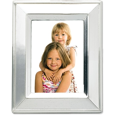 Brushed Silver Plated 2x3 Metal Picture Frame Shiny Inner Edge