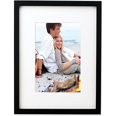Black Wood 6x8 Picture Frame Matted to 4x6
