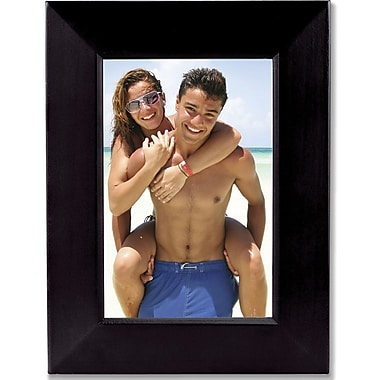 Contemporary Black Wood 5x7 Picture Frame