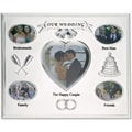 Our Wedding Silver Plated 8x10 Multi Picture Frame