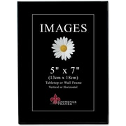 "Lawrence Frames Image Collection 5"" x 7"" Plastic Black Picture Frame, 6/Pack (350057)"