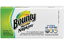 Bounty® Quilted Napkins, 1-Ply, 100 Napkins/Pack
