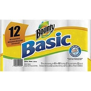 Bounty® Basic  Paper Towel Rolls, 1-Ply, 12 Rolls/Case