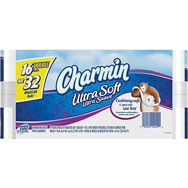 Charmin® Ultra Soft Bathroom Tissue Rolls, 2-Ply, 16 Rolls/Pack