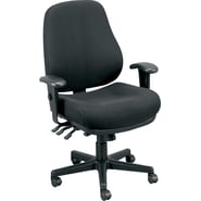 Raynor Eurotech Fabric Ergonomic Intensive Use Chair, Dove Black