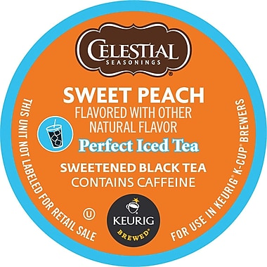 Keurig® K-Cup® Celestial Seasonings® Sweet Peach Iced Tea, 24/Pack