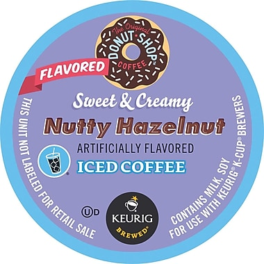 Keurig K-Cup Coffee People Original Donut Shop™ Sweet & Creamy Hazelnut Iced Coffee, Regular, 16 Pack