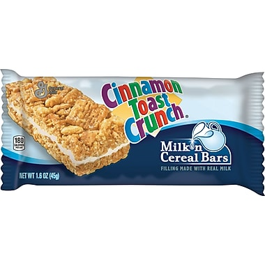 Cinnamon Toast Crunch Milk N' Cereal Bars, 1.58 oz., 12 Bars/Box