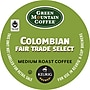 Keurig K-Cup Green Mountain Colombian Fair Trade Coffee,