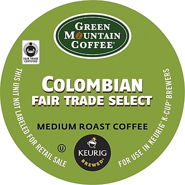 Keurig K-Cup Green Mountain Colombian Fair Trade Coffee, Regular, 18 Pack