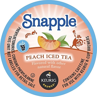 Keurig K-Cup Snapple Iced Tea, Peach, 16/Pack
