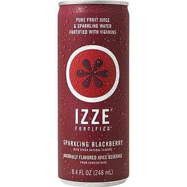 Izze Blackberry Sparkling Juice, 8.4 oz. Cans, 24/Case