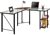 Altra® Aden Glass L-Desk