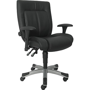 Sealy Zoe Bonded Leather Task Chair, Black