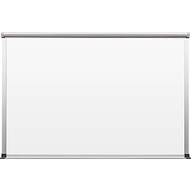 Best-Rite TuF-Rite Whiteboard with Tackless Paper Holder, Slim-Bite Frame, 24
