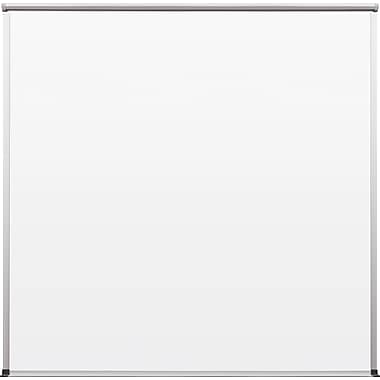 Best-Rite TuF-Rite Whiteboard with Tackless Paper Holder, Slim-Bite Frame, 4' x 4'