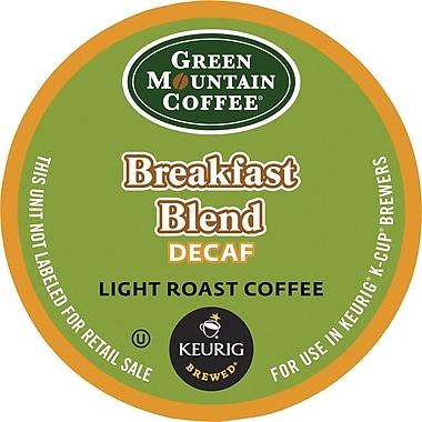 Keurig® K-Cup® Green Mountain® Breakfast Blend Decaf Coffee, Decaffeinated, 24 Pack