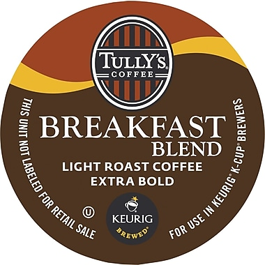 Keurig® K-Cup® Tully's® Breakfast Blend Extra Bold Coffee, Regular, 24/Pack