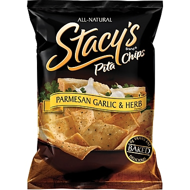Stacy's® Parmesan Garlic & Herb Pita Chips, 1.5 oz. Bags, 24 Bags/Case