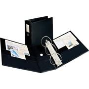 "Avery Durable EZD™ Ring Binder With Label Holder, Black, 1,050-Sheet Capacity, 5"" (Ring Diameter)"
