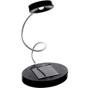 Trademark Global Solar Powered Flex LED Desk Lamp, Black