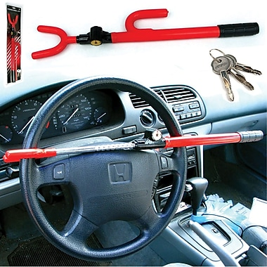 Trademark Global Anti-theft Steering Wheel Lock, 1 1/4in. x 18 1/2in. x 3 1/2in.