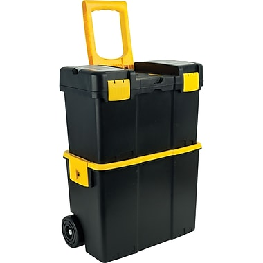 Trademark Tools™ Stackable Mobile Tool Box with Wheel, 10in. L x 17 7/8in. W x 24 1/8in. H