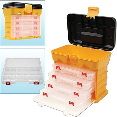 Trademark Tools™ 53 Compartment Storage Tool Box, 6 3/4in. x 10 3/4in. x 10 1/8in.