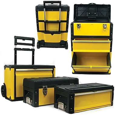 Trademark Tools™ 3-in-1 Oversized Portable Tool Chest, 28in. x 19 1/2in. x 11 1/2in.
