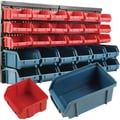 Trademark Tools™ 30 Bin Wall Mounted Parts Rack, 25 1/4in. L x 14 7/8in. W x 7 1/8in. H