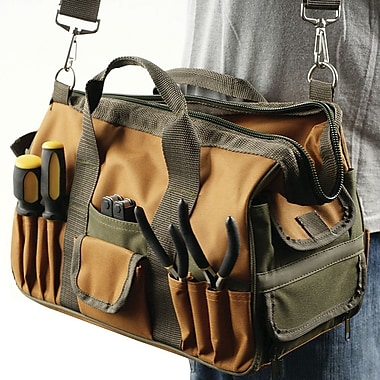 Trademark Tools™ Rugged Multi Pocket Tool Bag, 13in. H x 6in. W x 7in. D