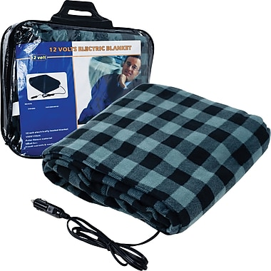 Stalwart Electric Blanket for Automobile, Plaid