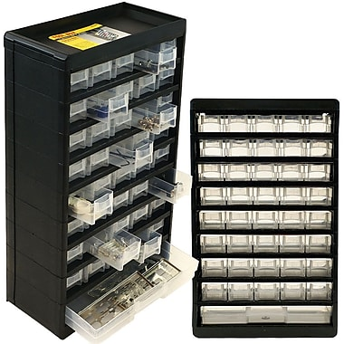 Trademark Tools™ 41 Compartment Durable Hardware Storage Box, 5 1/4in. L x 11 3/4in. W x 19in. H