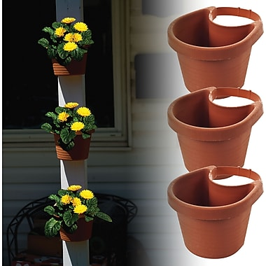 TerraTrade™ 3 Piece Drain Pipe Planter Set, 7 1/4in. x 6in. x 4 3/4in.