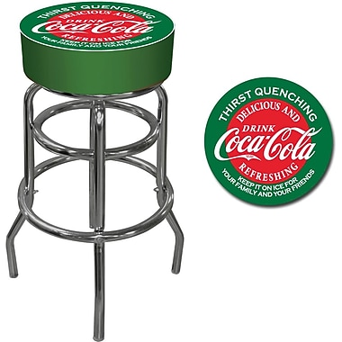 Coca-Cola Red and Green Pub Stool, 15in. L x 15in. W x 30in. H
