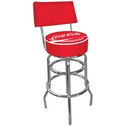 "Coca-Cola Pub Stools with Back, 40"" H x 15"" W x 15"" D"